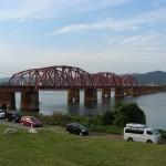 南海電車の紀ノ川鉄橋
