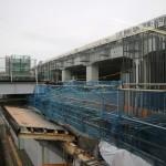 新潟駅の在来線高架工事