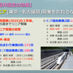 福井-東京間1時間52分北陸・中京新幹線