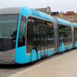 Metzの3連節BRT(曲線通過編)