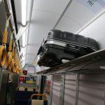 空港連絡鉄道のカバン対応